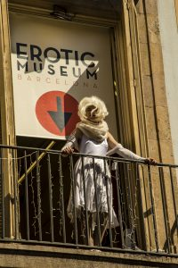 Marilyn Monroe impersonator at the Erotic Museum in Barcelona Spain