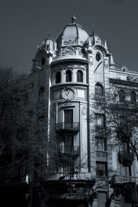 A modernist building in Barcelona Spain