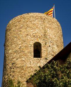 Old fort tower in Costa Brava, Spain