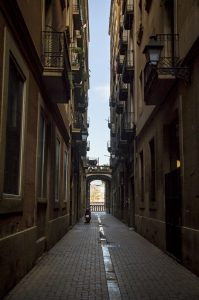 alley in Barcelona