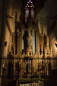 Side chapel in Barcelona Cathedral