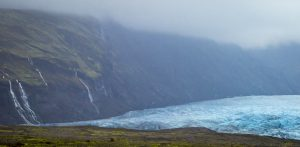 Iceland Glacier and Waterfalls
