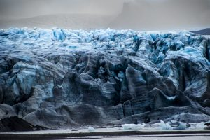 Glacier face in Iceland