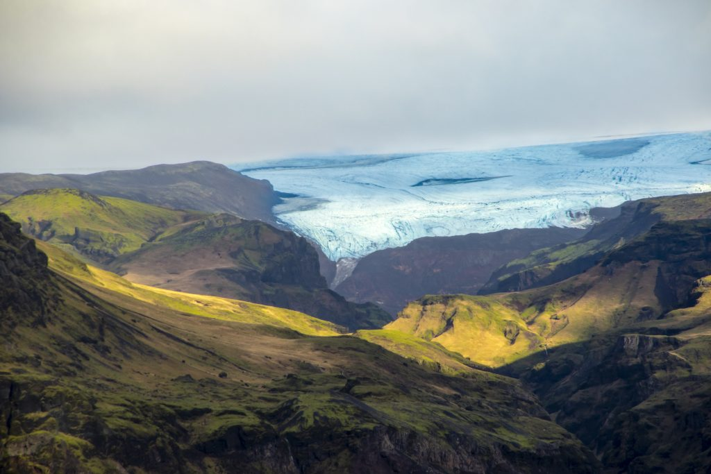 Iceland Glacier and Mountains